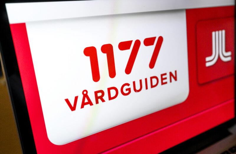 Logga för 1177 på en datorskärm.